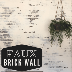 Faux brick wall adds the character of exposed brick to a newer home