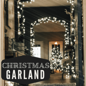 Christmas garland hung on all the archways with lights