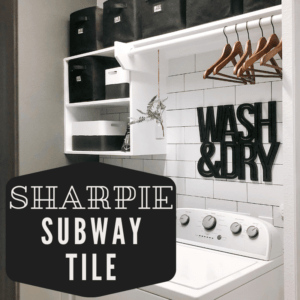Faux Subway Tile made with Sharpie Marker