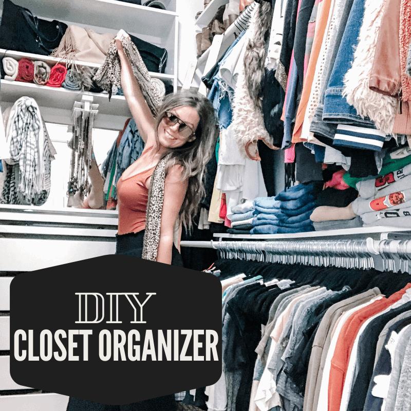 DIY closet organizer from scratch